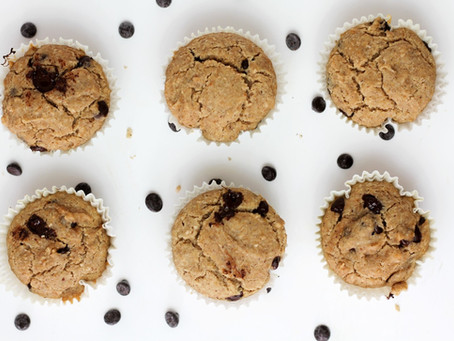 Muffin de coco com chocolate