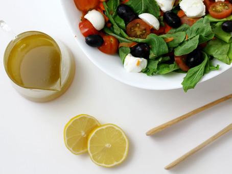 Como fazer uma salada saborosa - molho cítrico