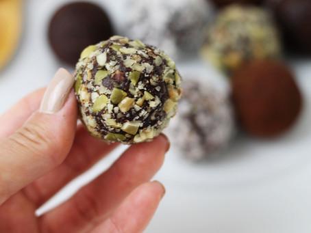 Energy Balls (docinhos de chocolate)