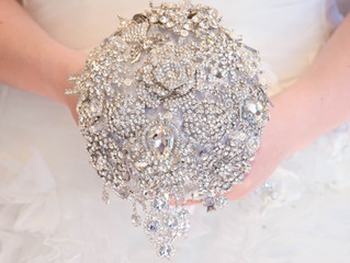 """I Do"" Brooch Bouquets"