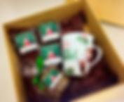 Caixa Panetone com caneca e brownie Natal