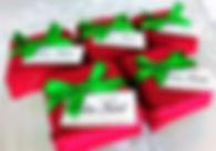 Brownie 4, x 4,5 cm - Tecido Poá Natal