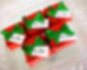 Brownie Natal no tecido embalagem especial