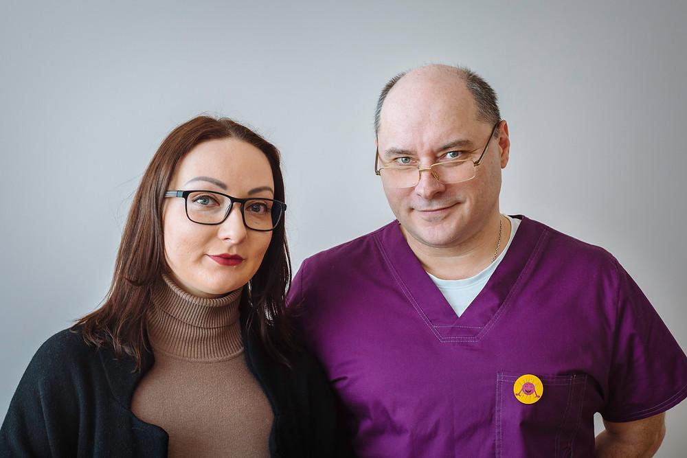 Doctor Ruslan Sobolev and Anna Lisnichenko