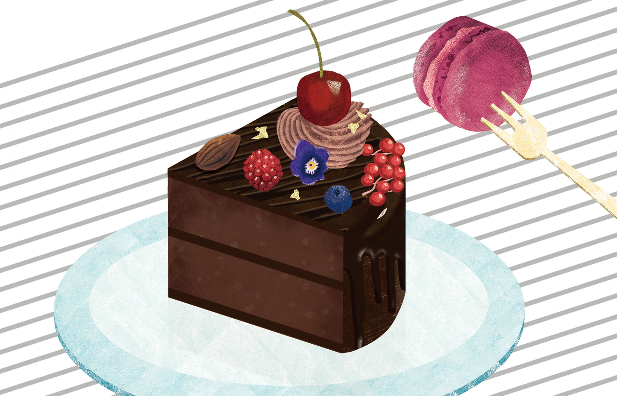 eat chocolatecake