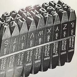 heavy bevel engraved steel letters figur