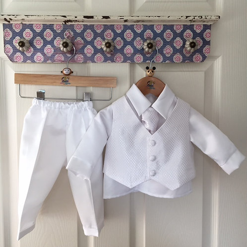 Christening Suit White 'Dara'