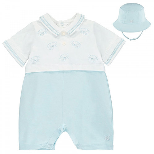 Emile et Rose 2 Piece Set, Romper & Hat
