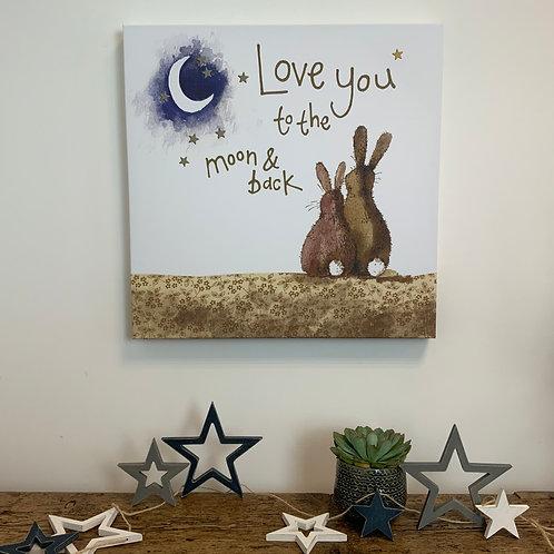 Alex Clark 'Love You... Large Canvas