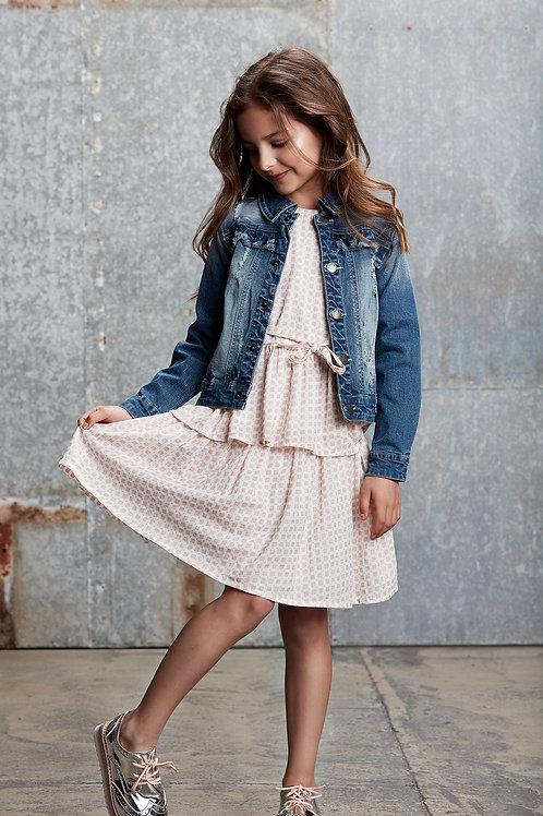 Creamie Checkered Blouse & Skirt