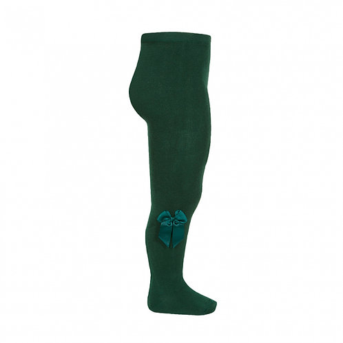 Condor Forest Green Bow Tights