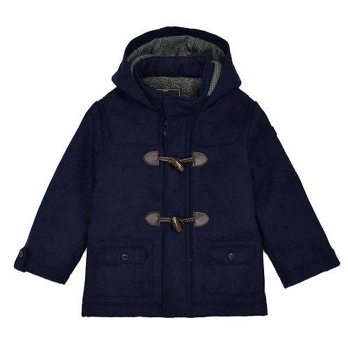 Hashtag Navy Duffle Coat