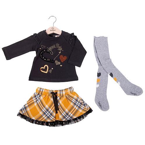 Babybol 3 piece top, shirt & tights