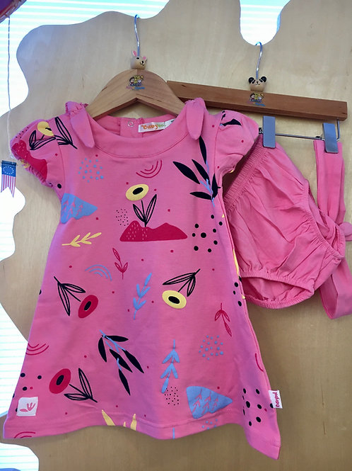 Babybol 3 Piece Dress. Nicks & Headband