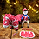 Thumbnail: Crafty Ponies Red/Snowflake Snuggle Rug Set