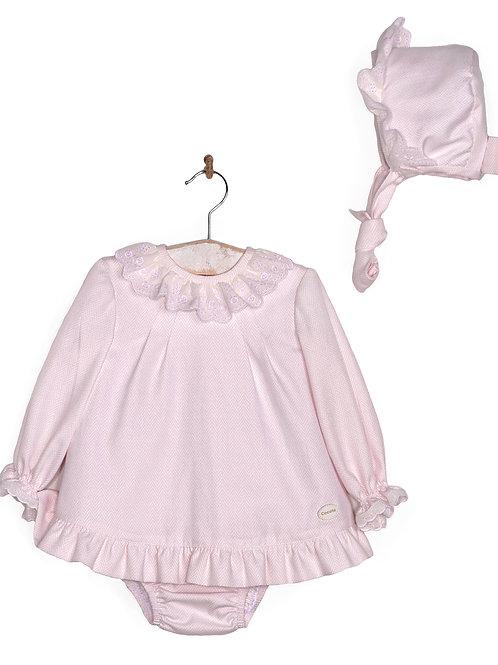Cocote 3 Piece Dress, Bonnet & Pants