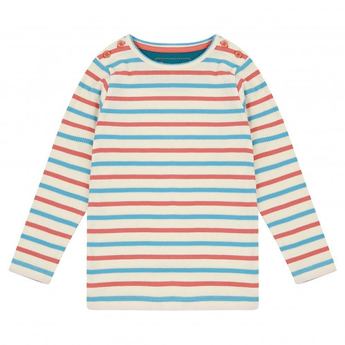 Piccalilly Striped Rib Top