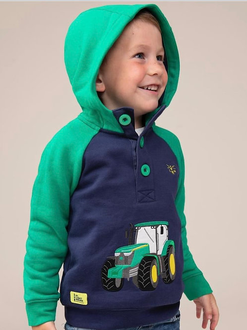 Lighthouse Green Tractor Hoodie