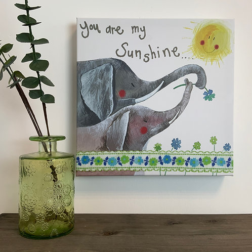 Alex Clark 'You are My Sunshine'' Med Canvas
