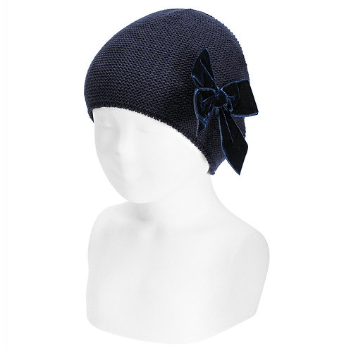 Condor Navy Hat with Bow