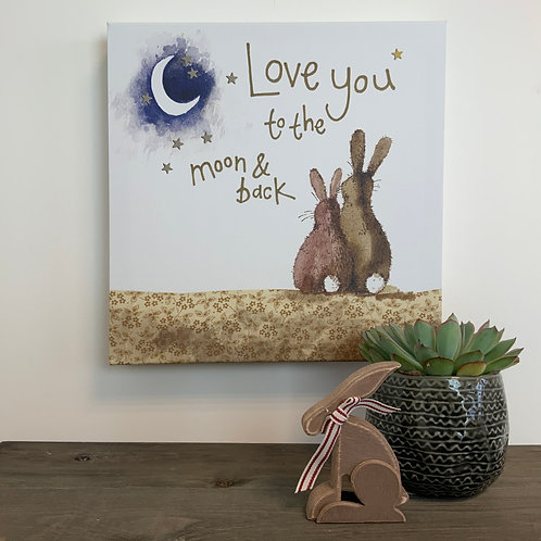 Alex Clark 'Love You....' Med Canvas