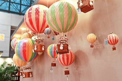 Authentic Models Hot Air Balloon 'Travels Light' 30cm