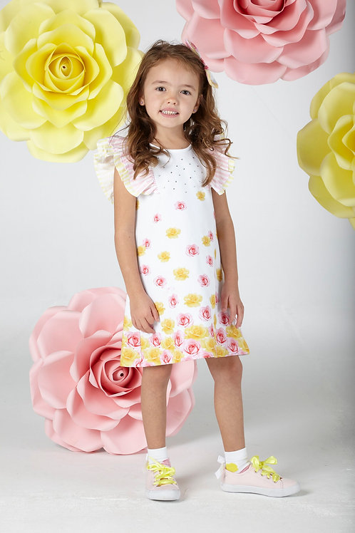 A Dee Rose Print Dress