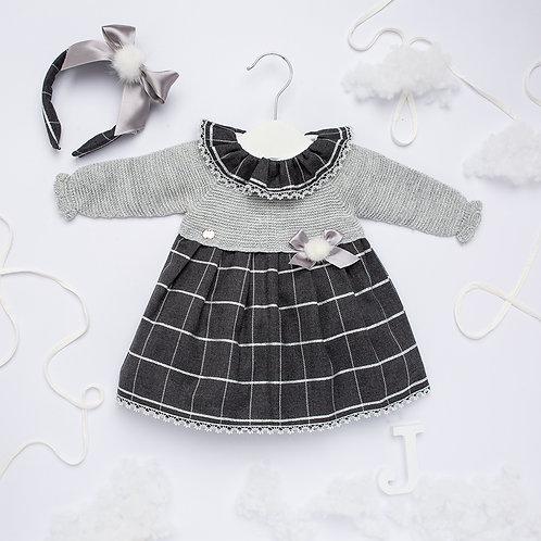 Juliana Charcol Check Dress