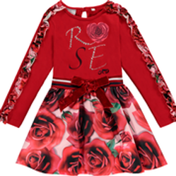 A Dee Red Rose Dress