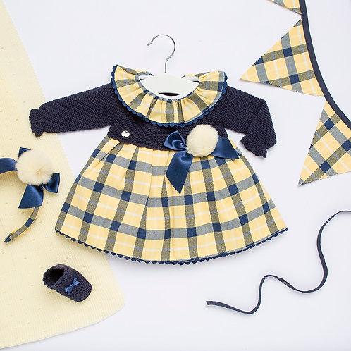 Juliana Mustard Check Dress