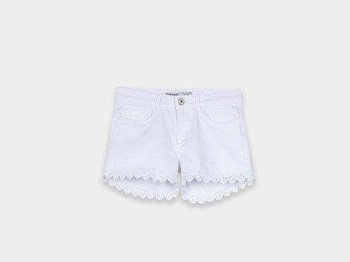 Tiffosi White Denim Shorts