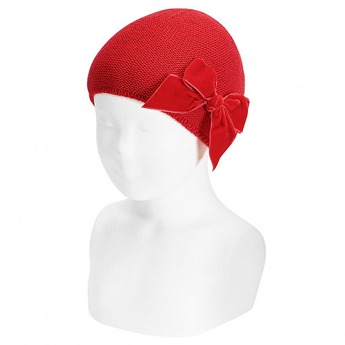 Condor Red Hat with Bow