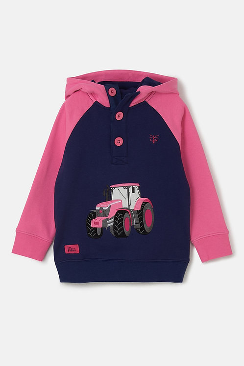 Lighthouse Pink Tractor Hoodie