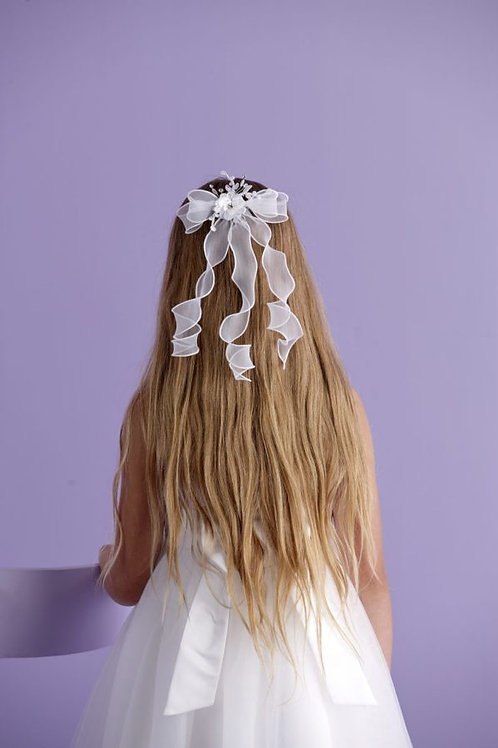 First Communion Floral Comb