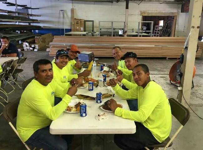 Envision Glass employees enjoying th