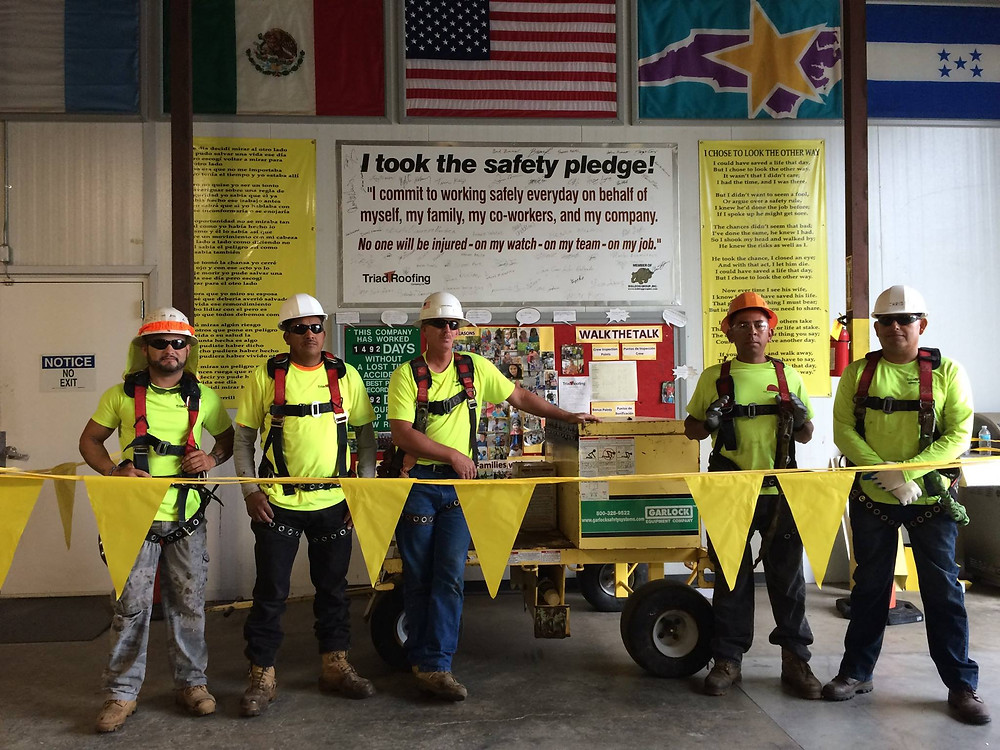 Triad Roofing Employees Stand-Down for Safety