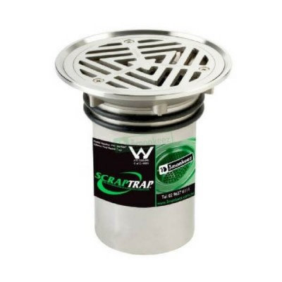 100mm Vinyl Floor Waste With Bucket Trap Stainless Steel 304 FW100VRBT