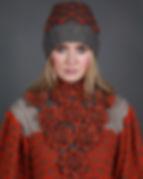 NECK7 Long Blossom NeckPiece by Linda Wilson Knitwear