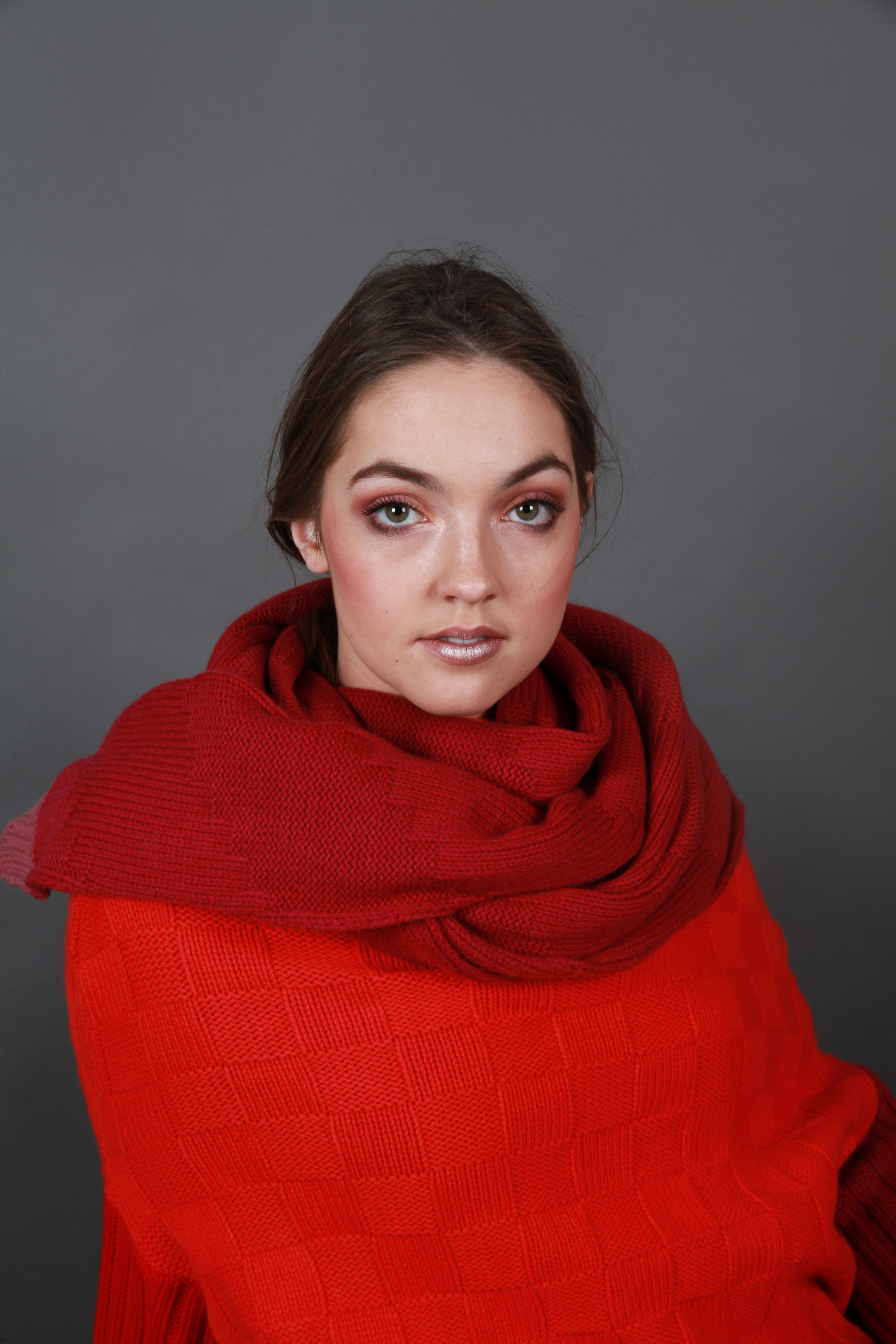 Chunky Textured Pattern Oversized Scarf
