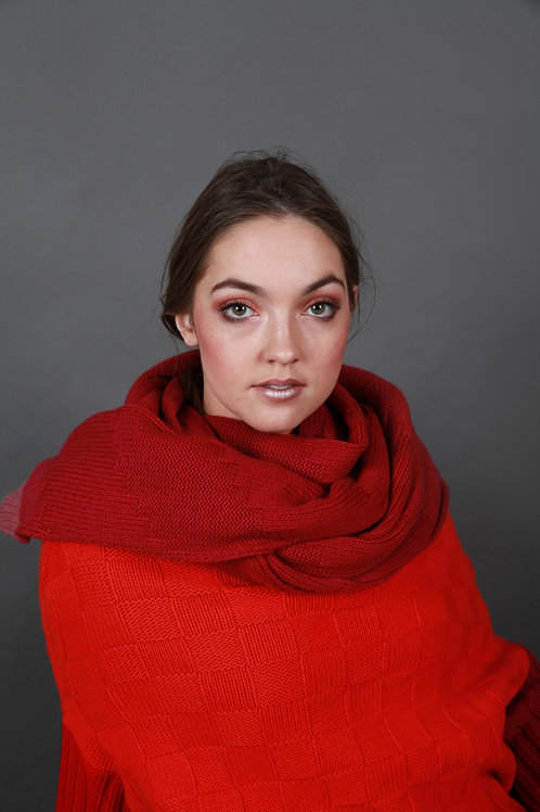 Chunky Textured Patterned Scarf