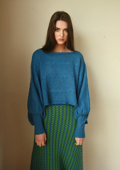 Cable Poncho Style Jumper