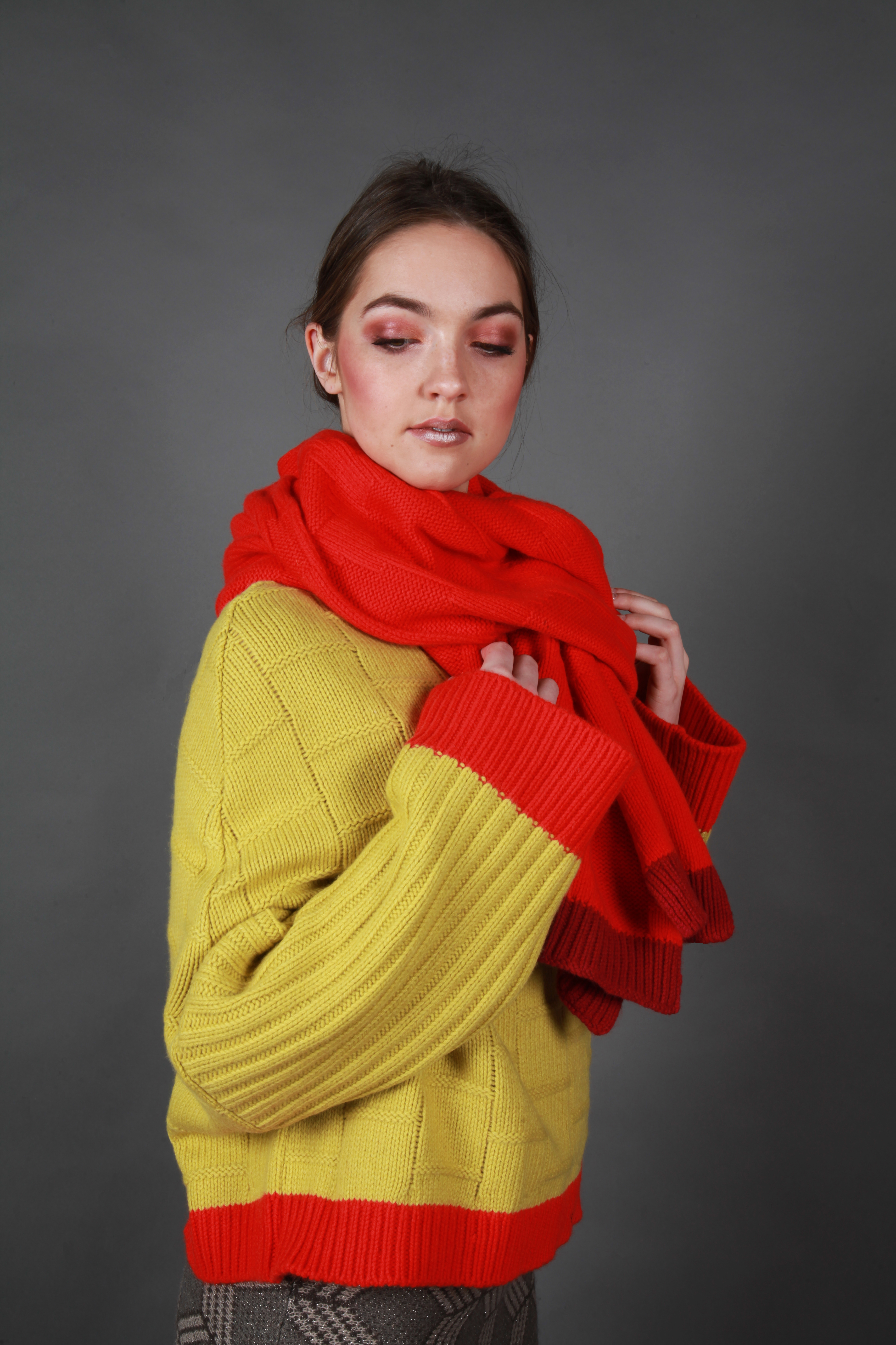Chunky Textured Dot Oversized Scarf