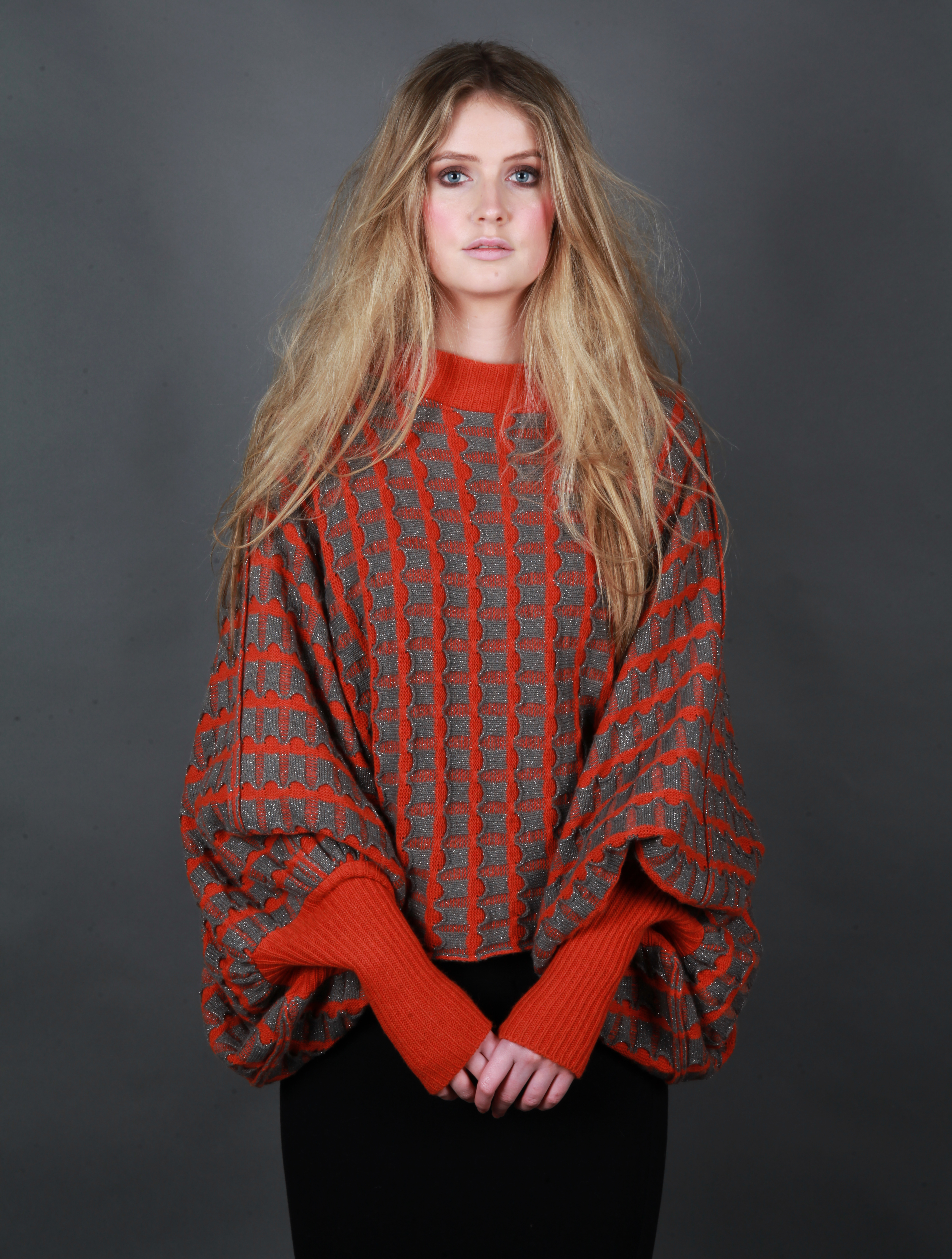 Pocket Poncho Style Jumper with Cuffs