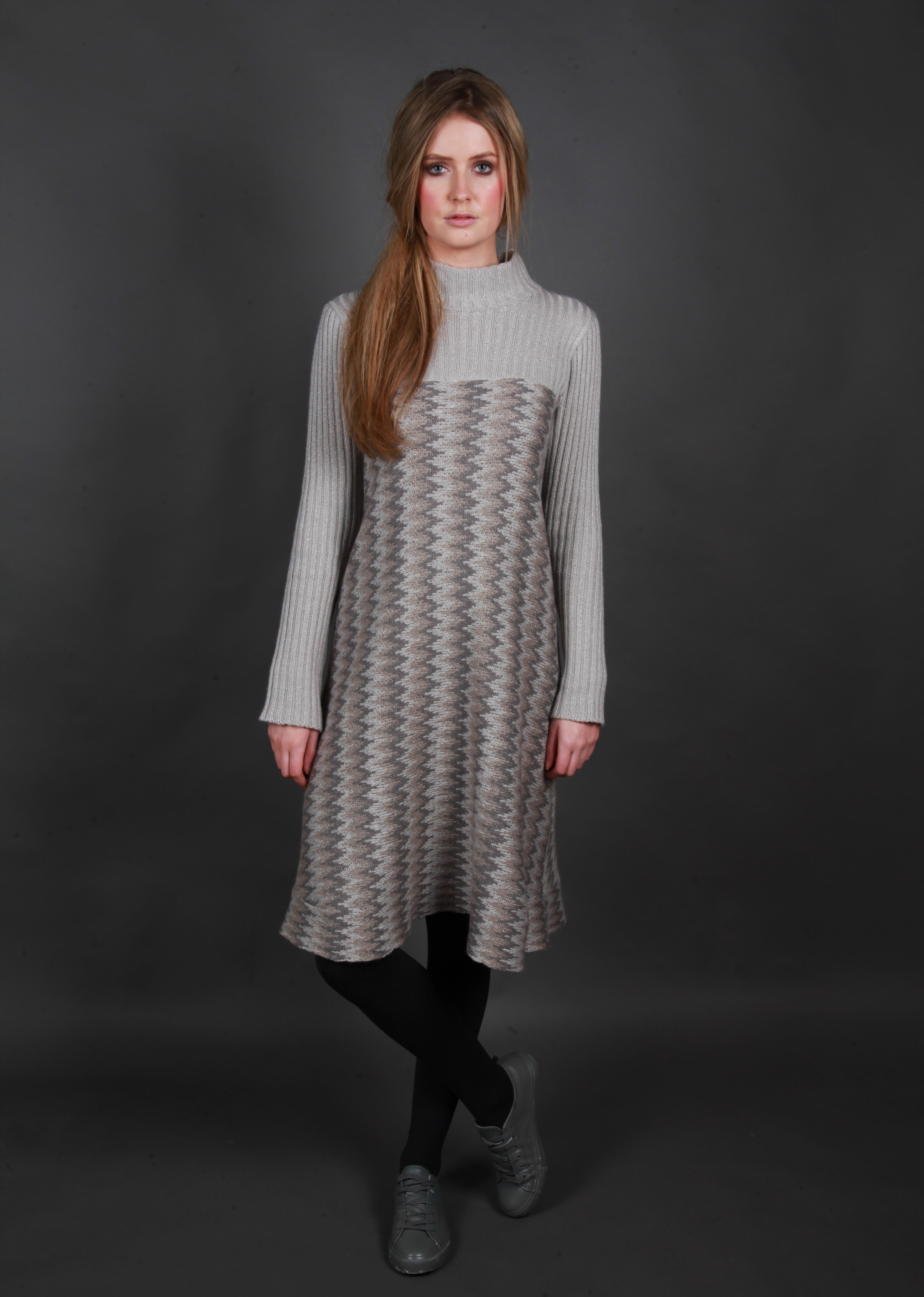 Herringbone Ribbed Dress