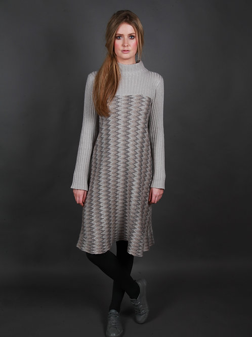 Herringbone Ribbed Dress