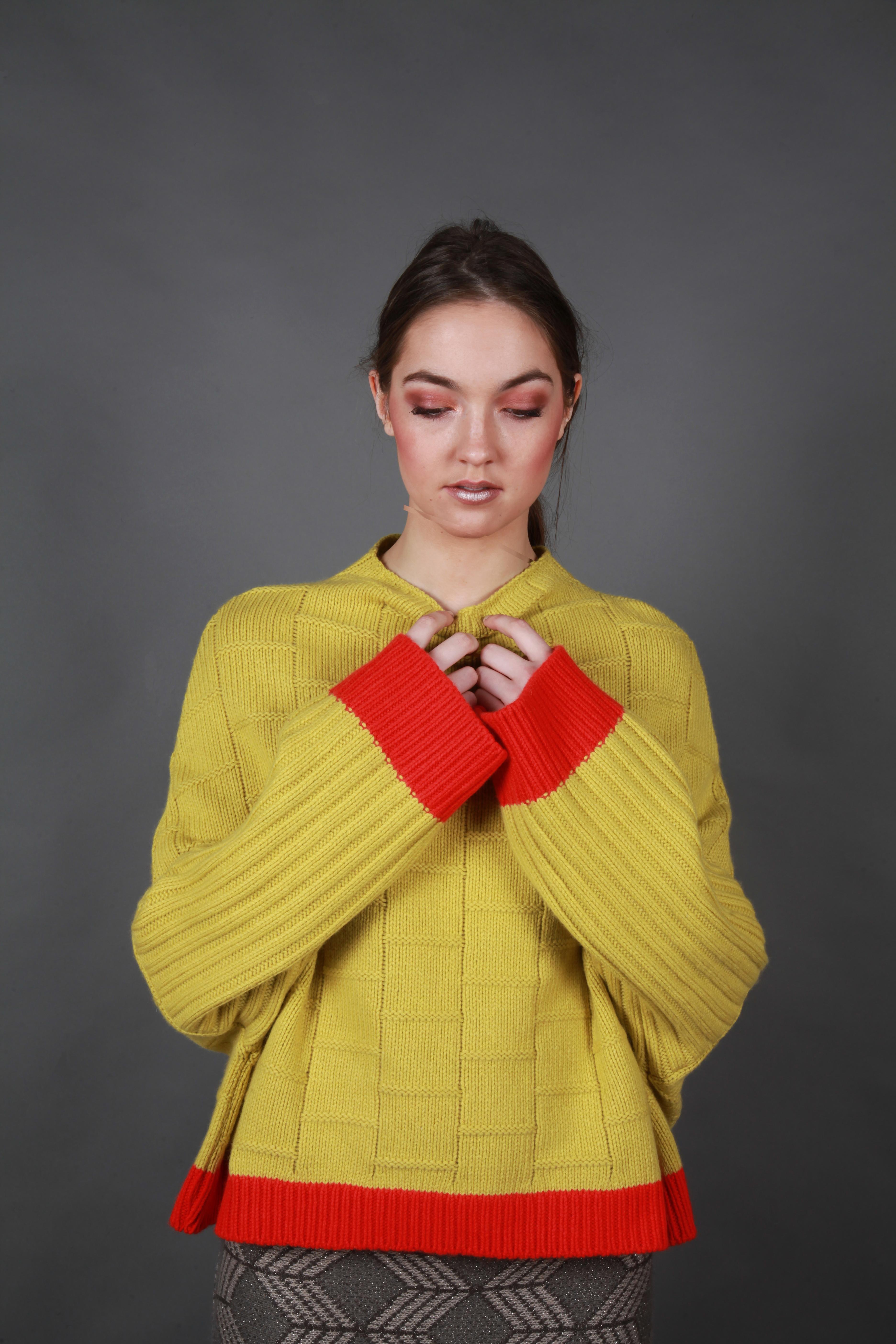 Chunky short stitch jumper