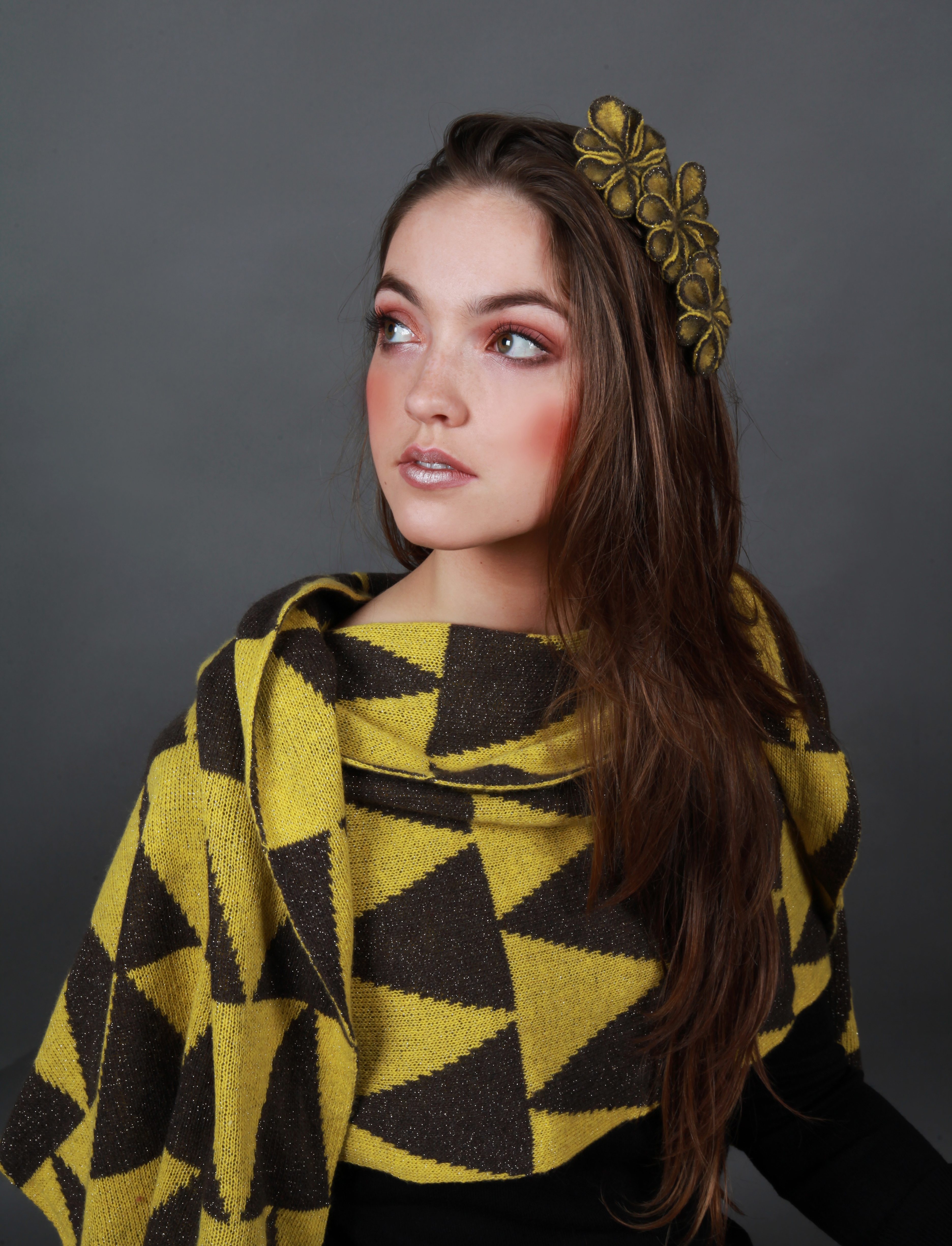 Patterned Triangle Wrap/Scarf