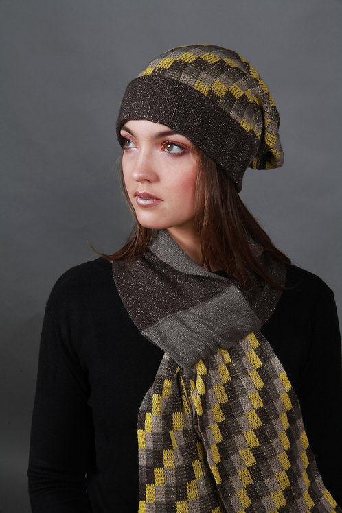 Beanie Chequered Pattern Hat