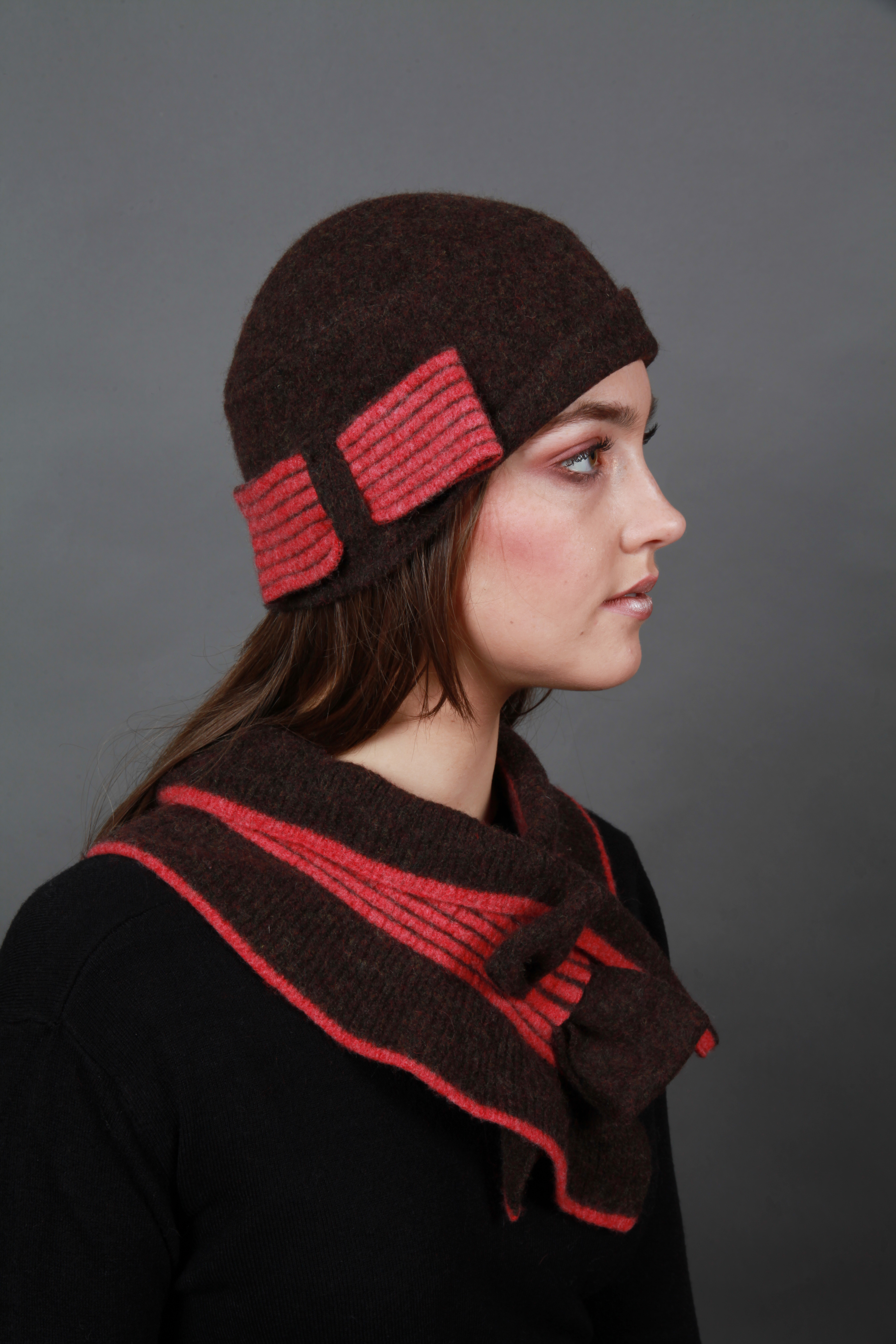 Bow Hat & Bow Scarf