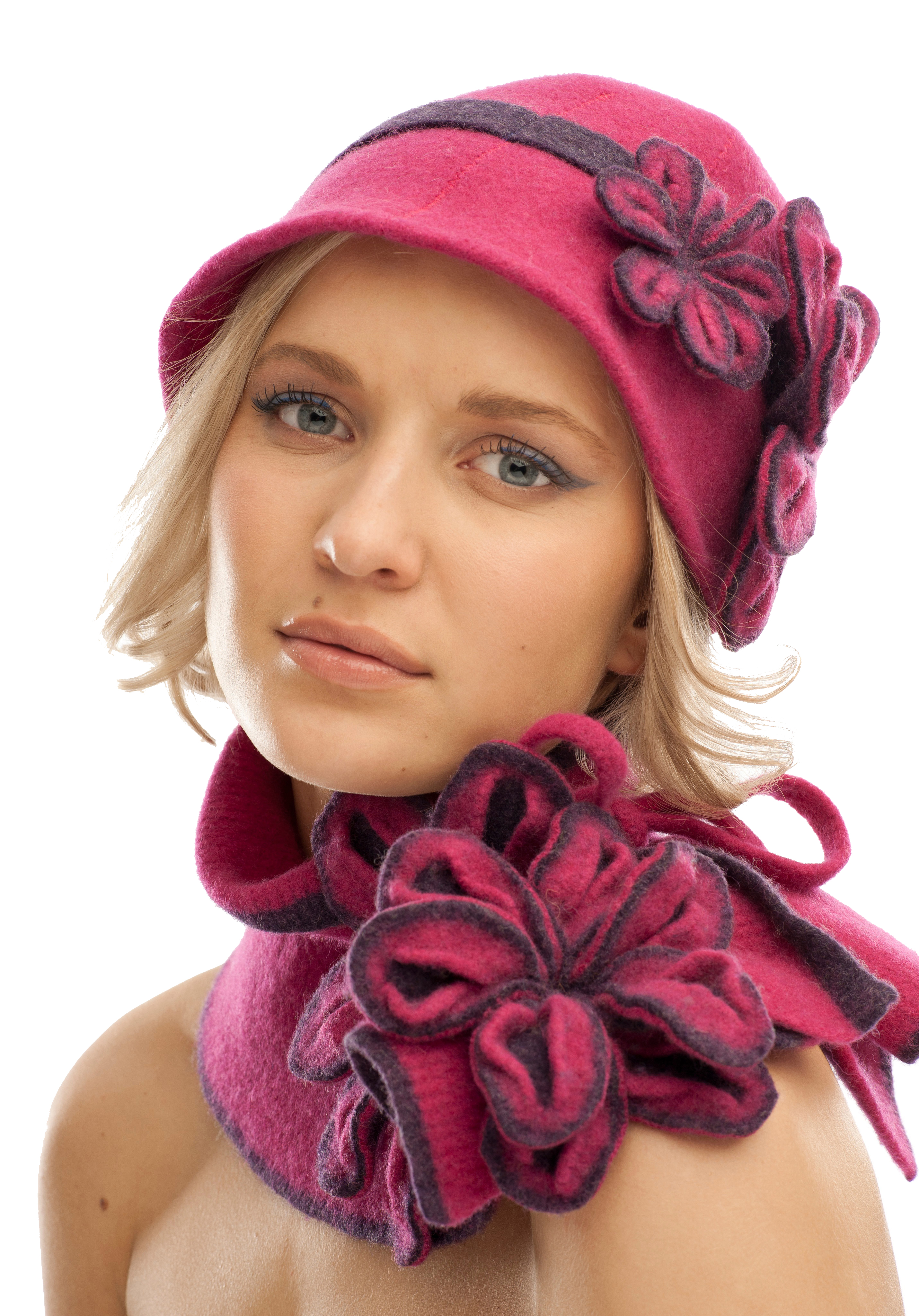 Vintage Blossom Hat with matching Tie Blossom Scarf.